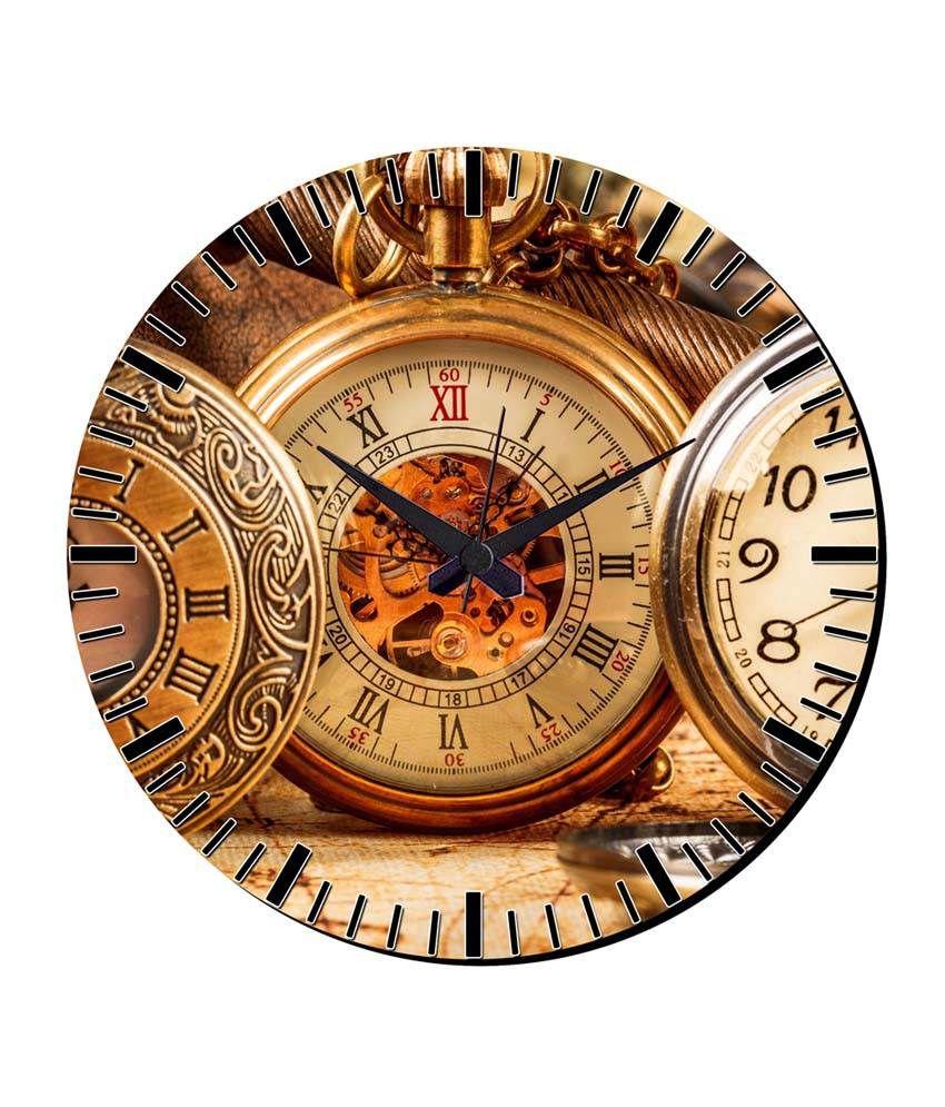 mesleep watch design wall clock with glass top buy