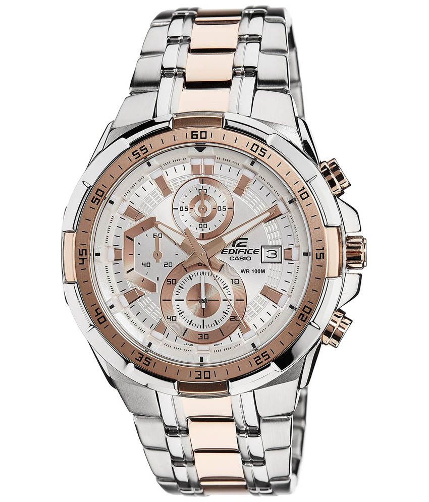 a8d9544bfdf65 Men Fashion EX222 Silver and Rose Gold Stainless Steel Chronograph Watch -  Buy Men Fashion EX222 Silver and Rose Gold Stainless Steel Chronograph Watch  ...