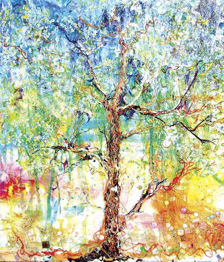 Faim Multicolour Tree Of Life 2 Canvas Print Painting