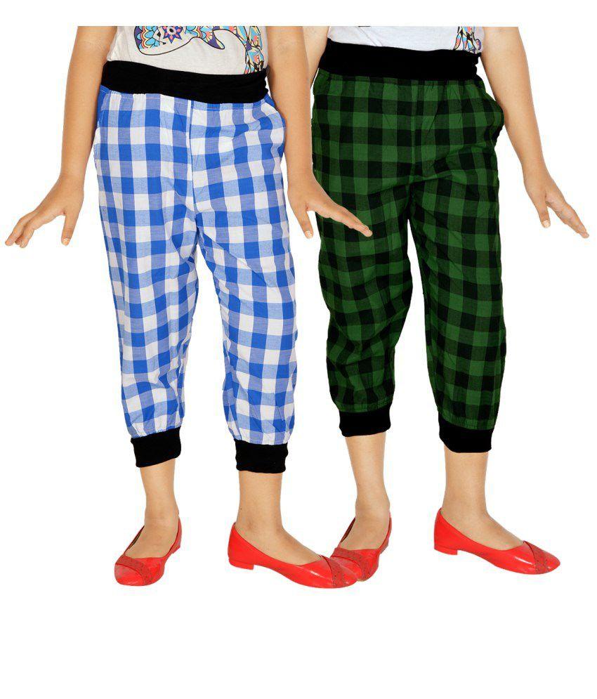 Gkidz Multicolour Capris For Girls Set Of 2