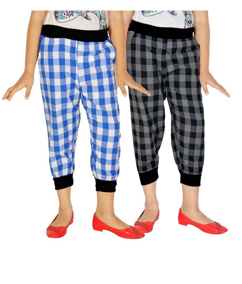 Gkidz Multicolour Capris For Girls Set Of 2