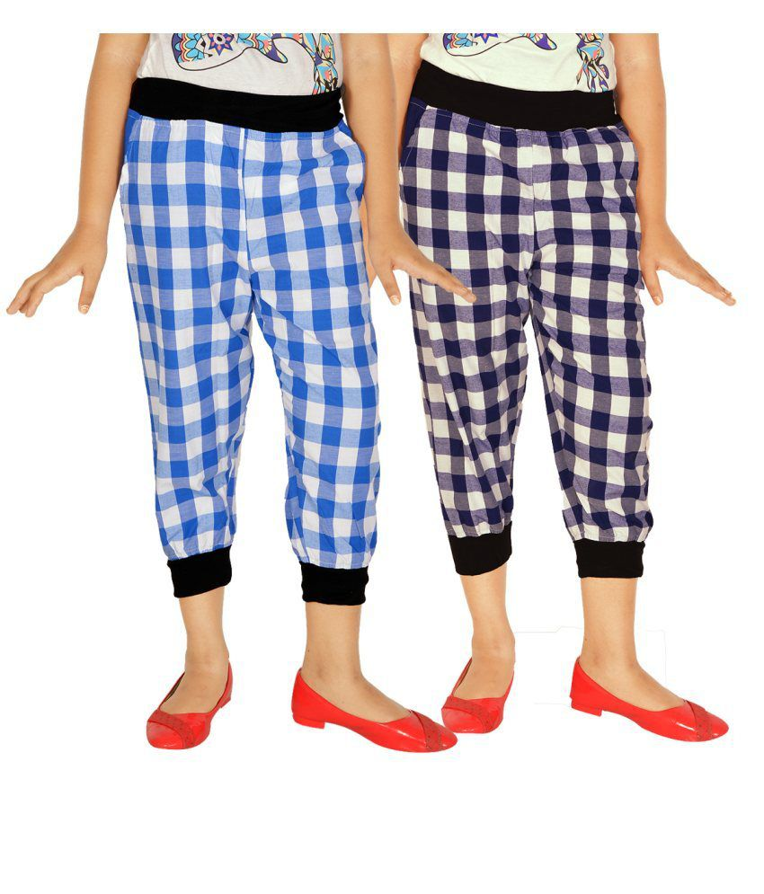 Gkidz Multicolour Cotton Capris Set Of 2