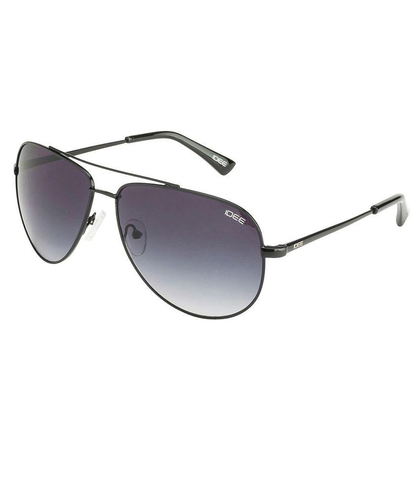 Idee Black Frame Gradient Aviator Sunglasses