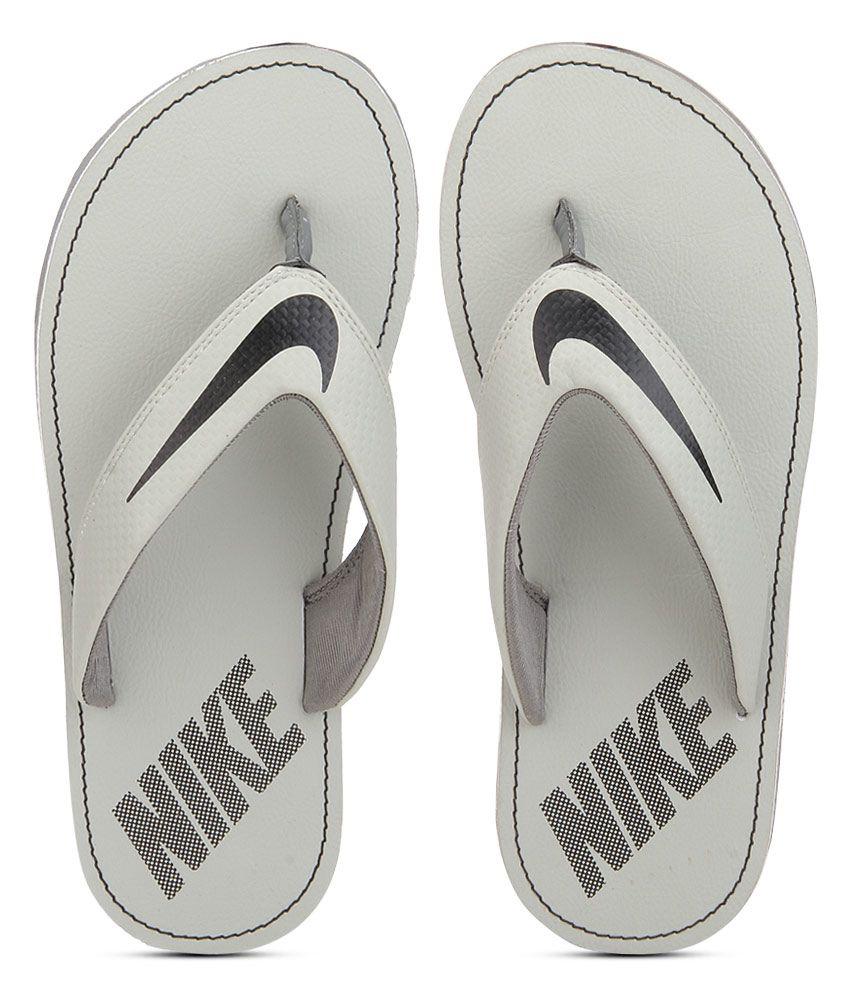 nike gray slippers