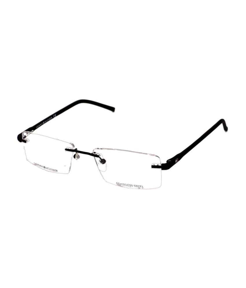 b60b97c367 Tommy Hilfiger Rimless Black Rectangle Frame Eyeglasses for Unisex - Buy  Tommy Hilfiger Rimless Black Rectangle Frame Eyeglasses for Unisex Online  at Low ...