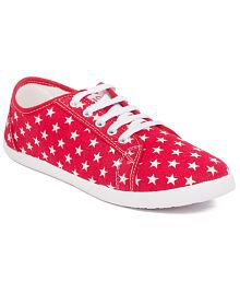 Asian Simple Red Casual Shoes
