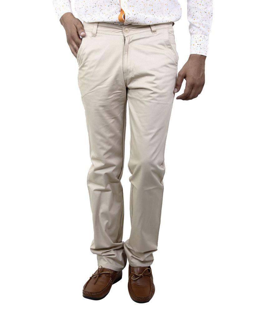 BlueTeazzers Brown Regular Chinos Trouser