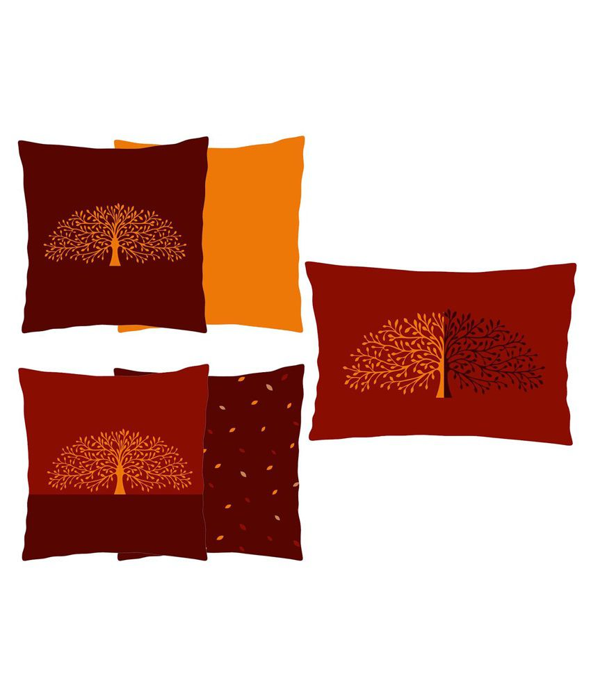 Craftghar Multicolour Poly Cotton Cushion Cover