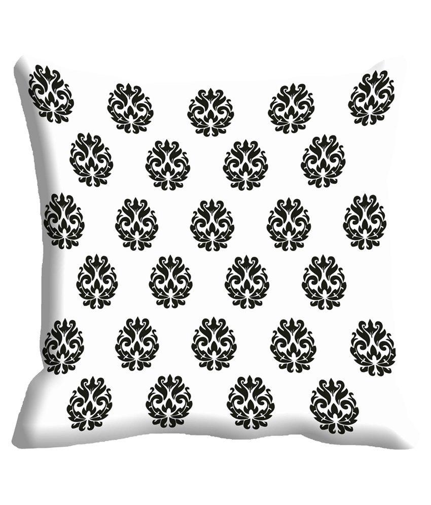 MeSleep Multicolour 3D Printed 2 Pcs Cushion Cover