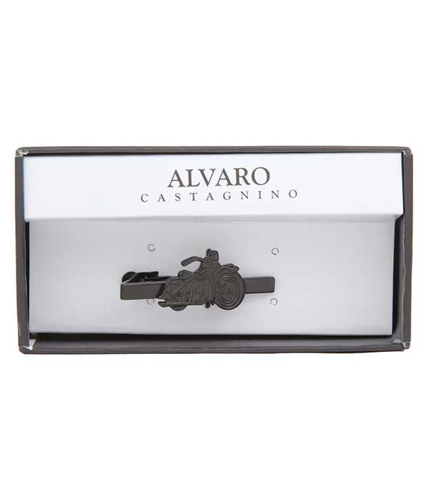 Alvaro Castagnino Black Stainless Steel Tiepin