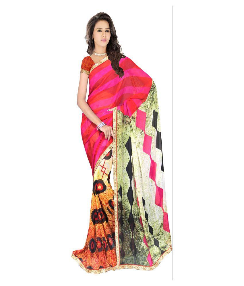 Sonal Trendz Multicoloured Art Silk Saree