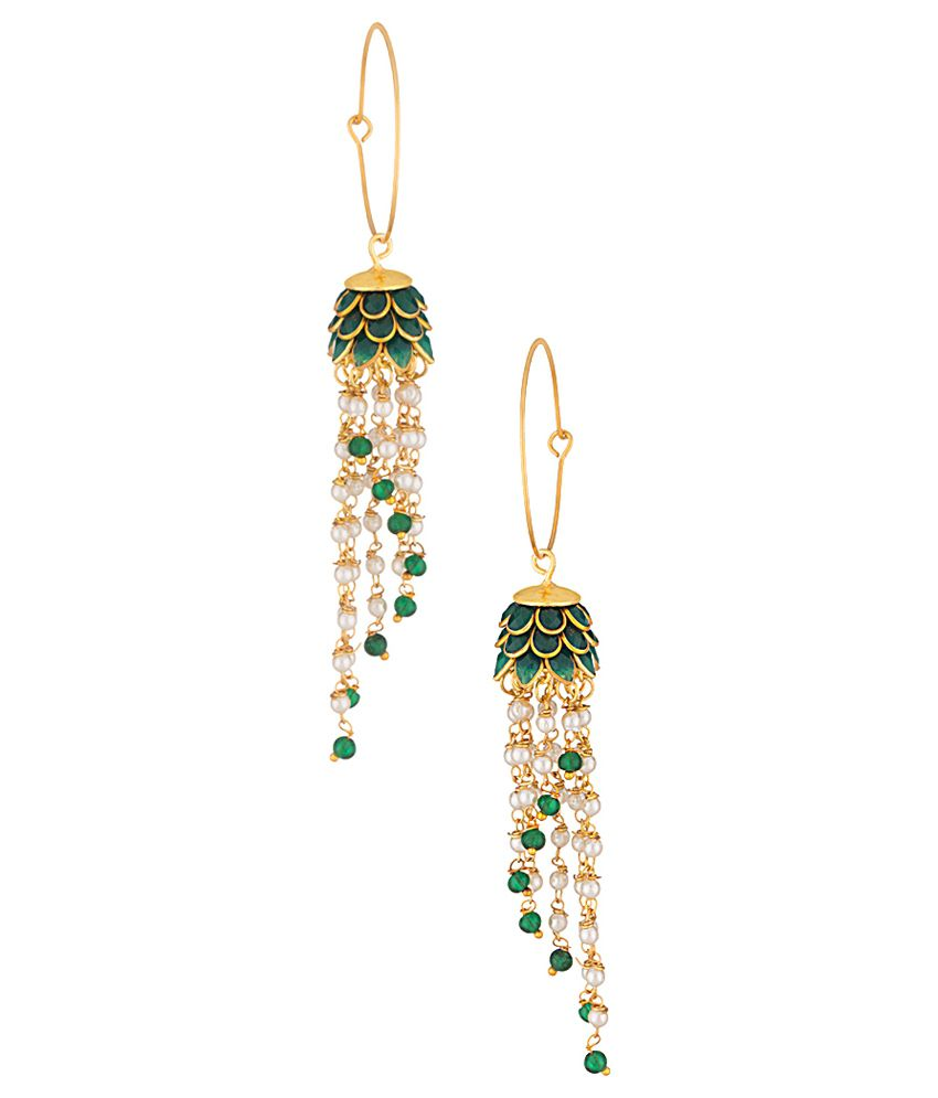 Voylla Gold Alloy Hanging Earings