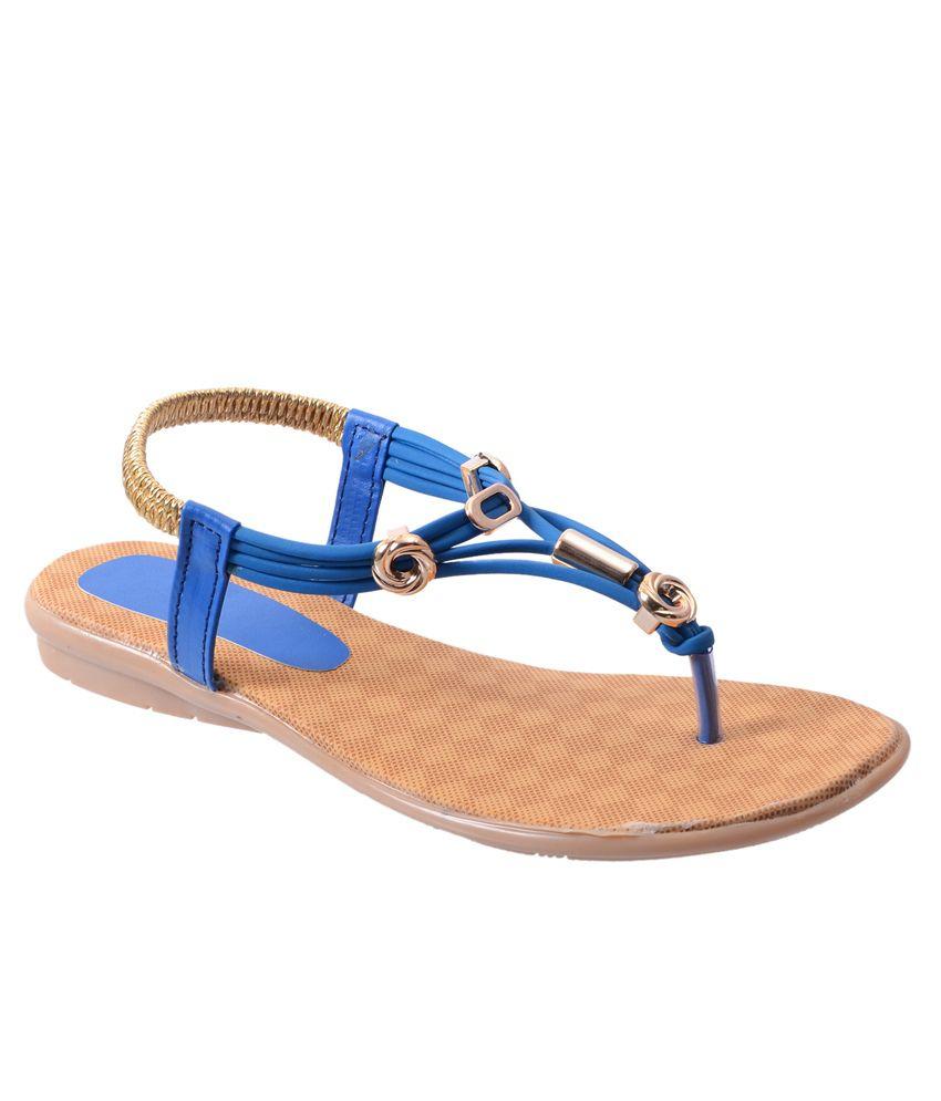 Rising Sun Blue Flat Sandals