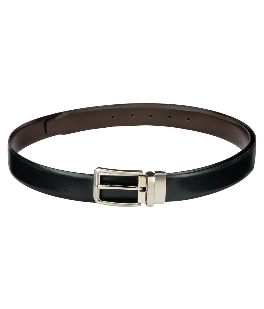 Teakwood Black Leather Casual Belt