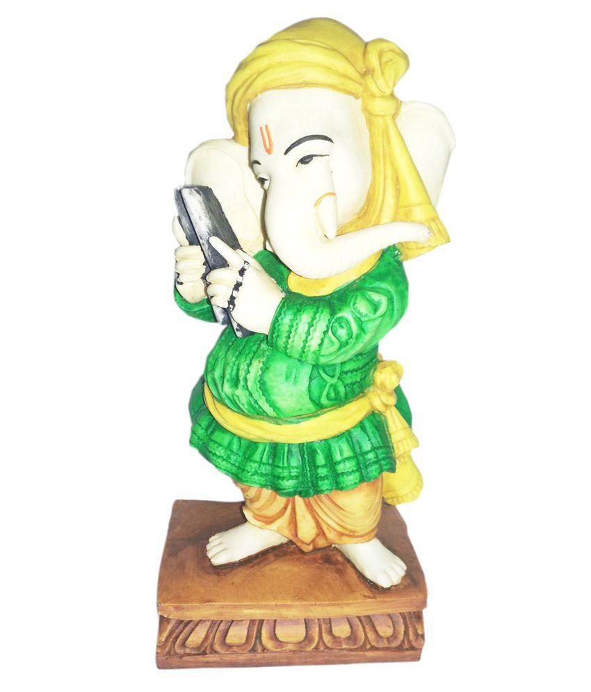Earth Resin National Integration Ganesha Showpiece