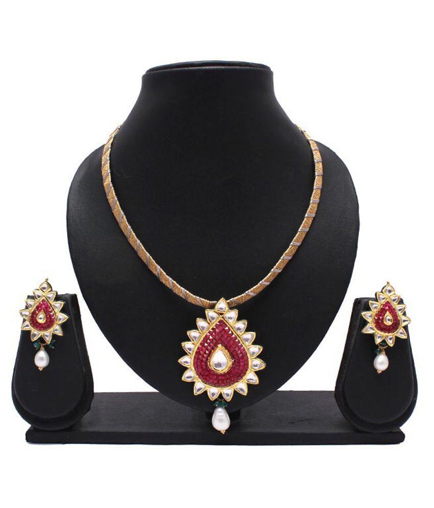Shimmer Jewels 22Kt Golden Necklace Set
