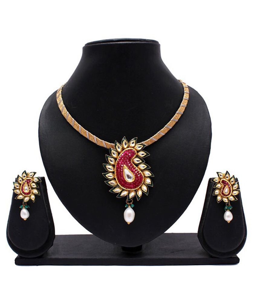 Shimmer Jewels 22Kt Golden Necklace Set