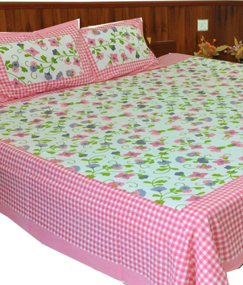 shopping rajasthan combo of 4 sanganeri design jaipuri double bed