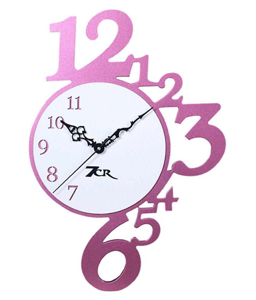 7cr pink wooden wall clock buy 7cr pink wooden wall clock at best 7cr pink wooden wall clock amipublicfo Image collections