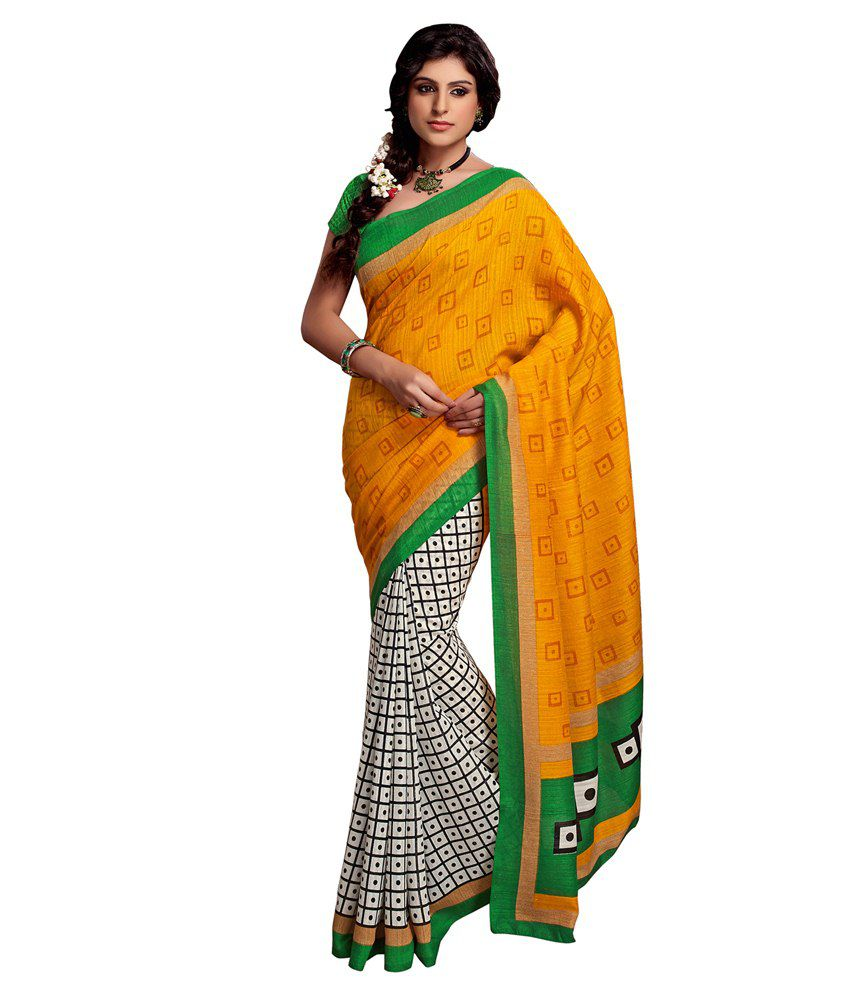 Apple Creation Multicoloured Art Silk Saree