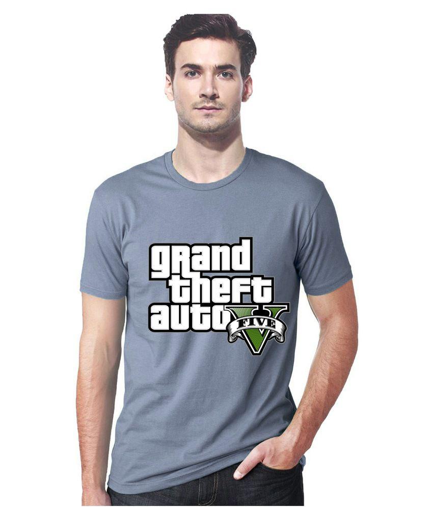 Gallop Gta Ash Grey Round Neck Tshirt