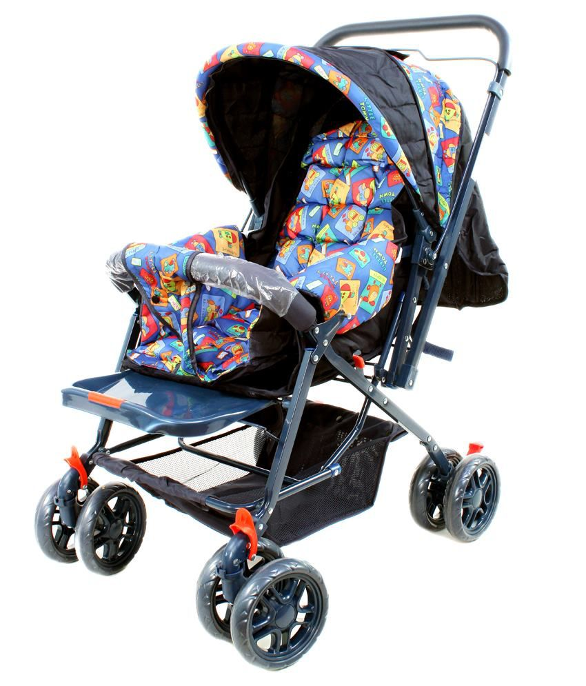 JandA Black & Blue Eco Pram