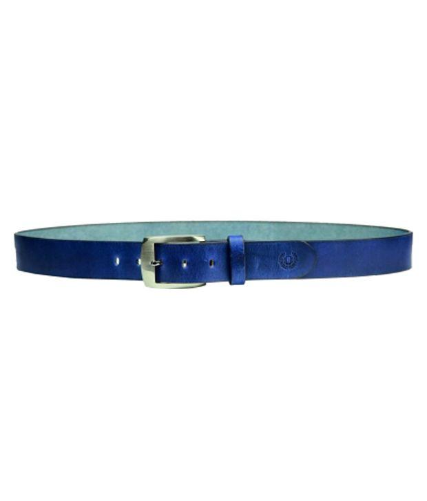 99cells Blue Leather Casual Belt For Men