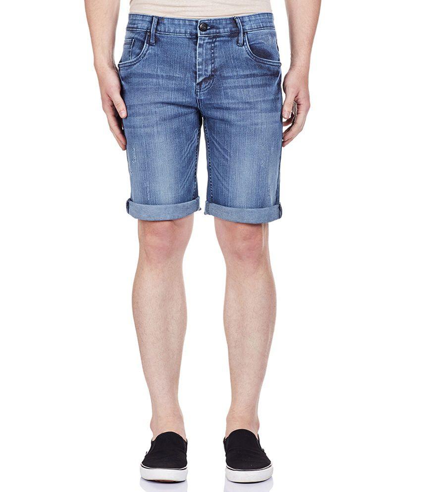 Bandit Blue Men's Casual Slim Shorts