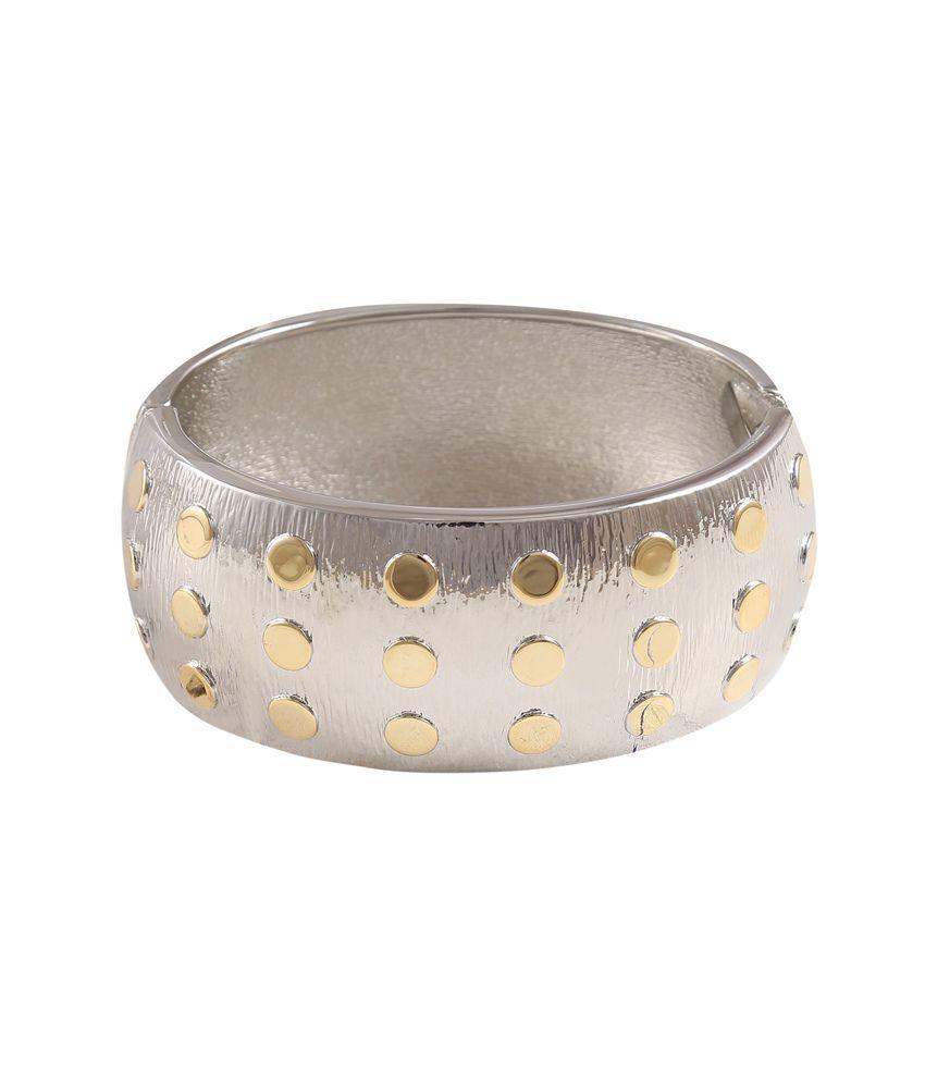 Catchme Gold Alloy Adjustable Dualtone Bracelet