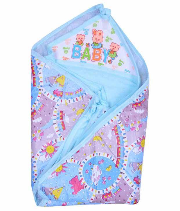Kws Blue Cotton Baby Wrap