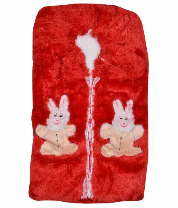 Kws Maroon Fur Baby Wrap