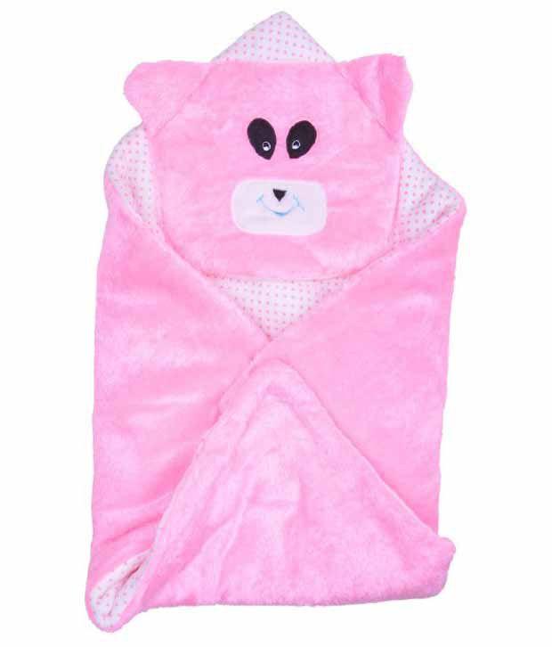 Kws Pink Poly Cotton Baby Wrap