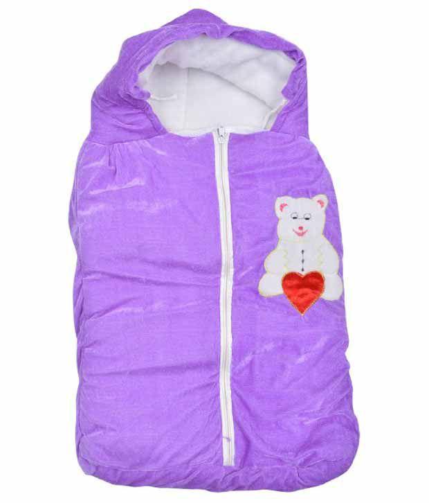 Kws Purple Poly Cotton Baby Wrap