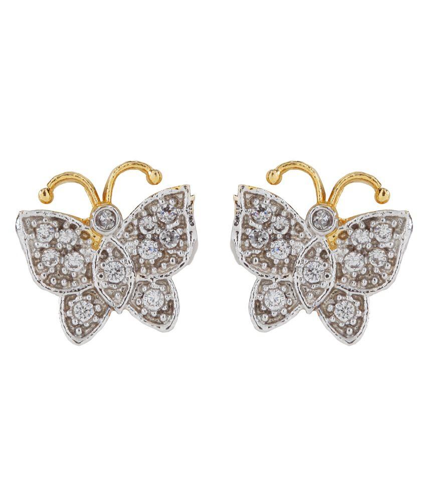 Vanity Roots CZ Butterfly Ear Stud Tops