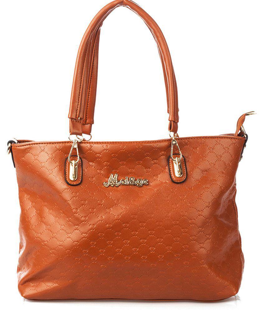 Vero Couture Brown Tote Bag