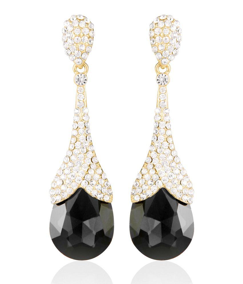 Tree Black Diamond Chandelier Earring For Women