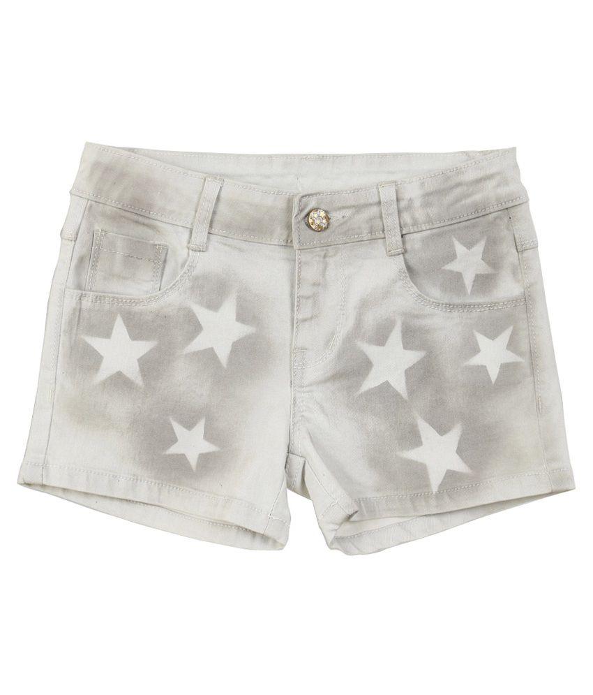 Lilliput Grey Cotton Spandex Shorts