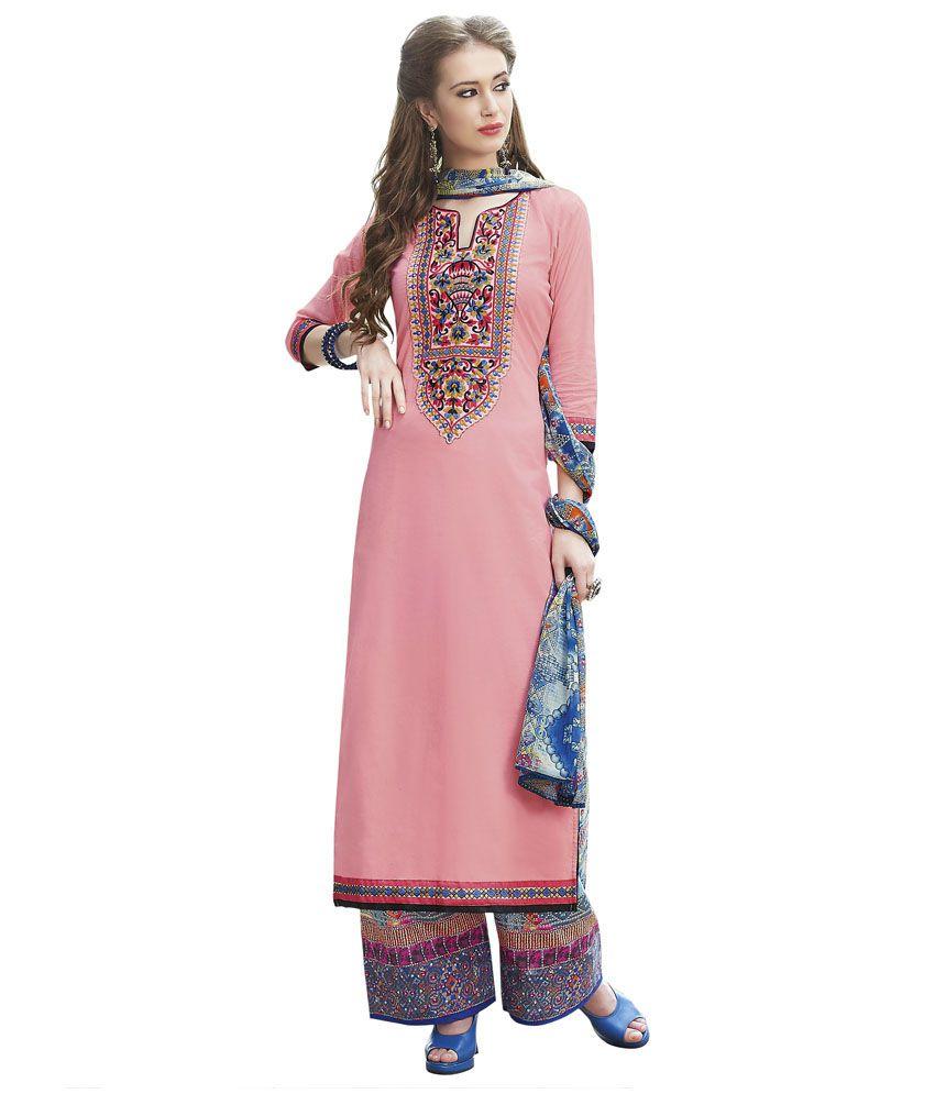 6edf409c30 Riva Peach Cotton Pakistani Suits Unstitched Dress Material - Buy Riva  Peach Cotton Pakistani Suits Unstitched Dress Material Online at Best Prices  in India ...