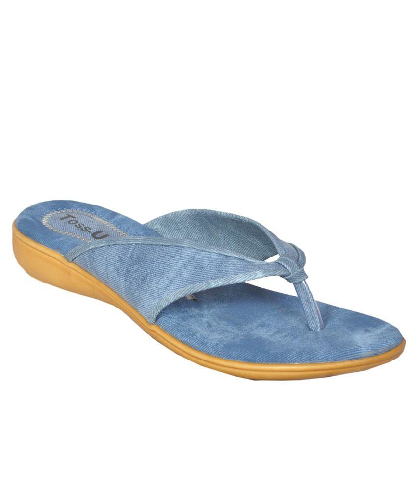 Toss-Up Blue Flat Slip Ons