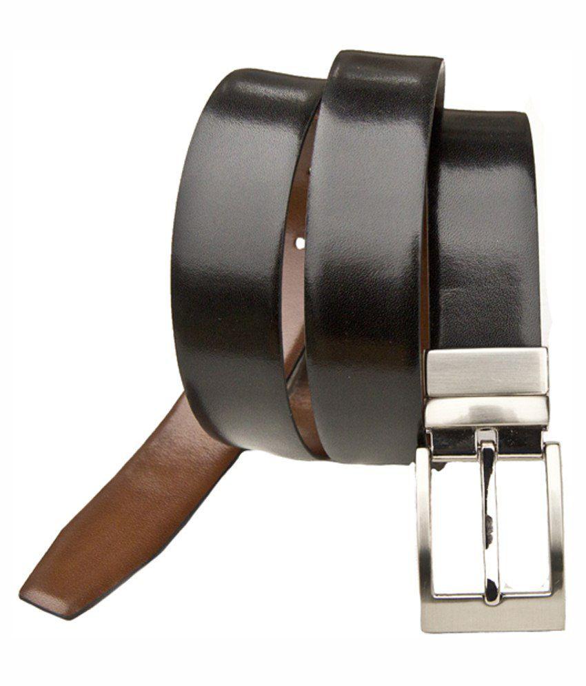 99cells Black Leather Reversable Belt