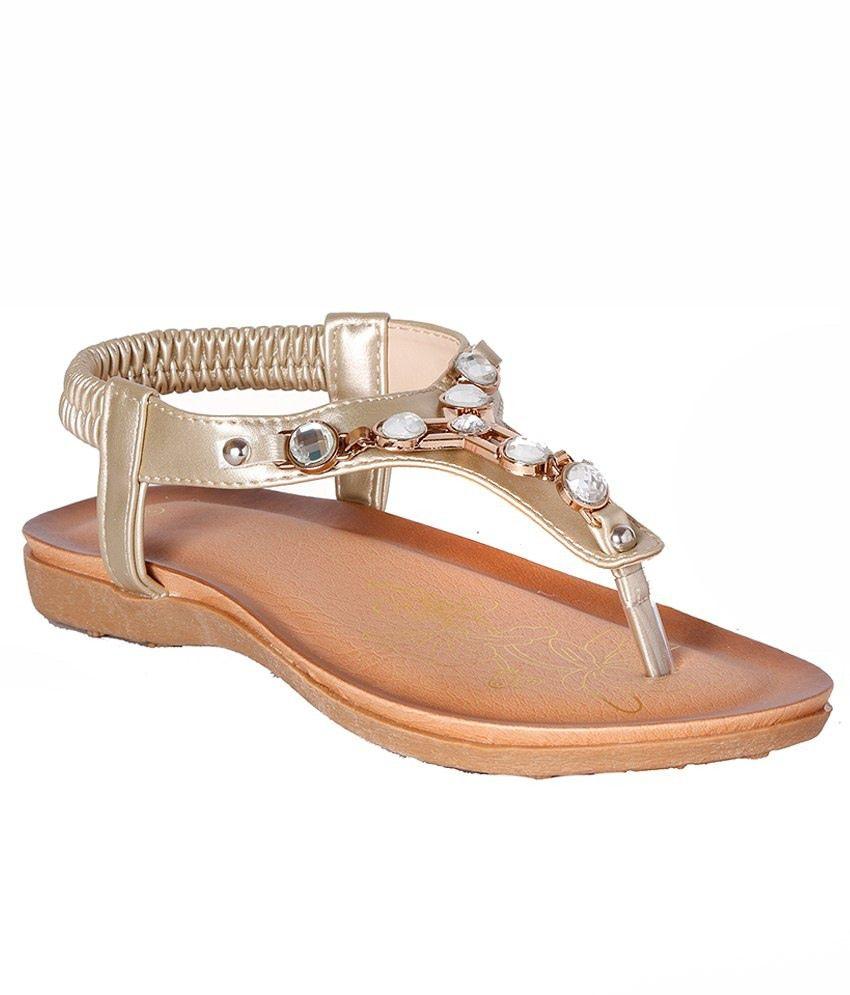 Pantof Golden Flat Sandals
