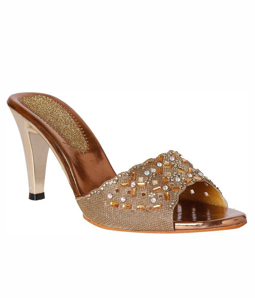 Pantof Golden Heeled Sandals