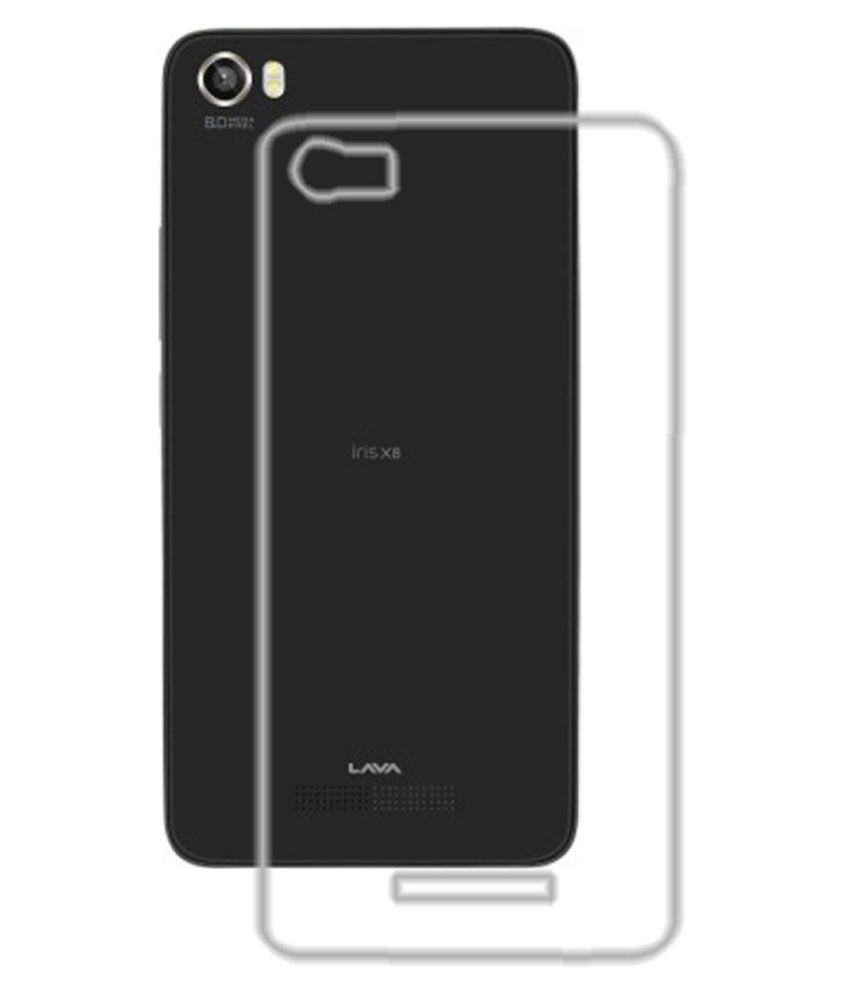 purchase cheap 236c4 bdd51 Kolorfame Transparent Back Cover for Lava Iris X8