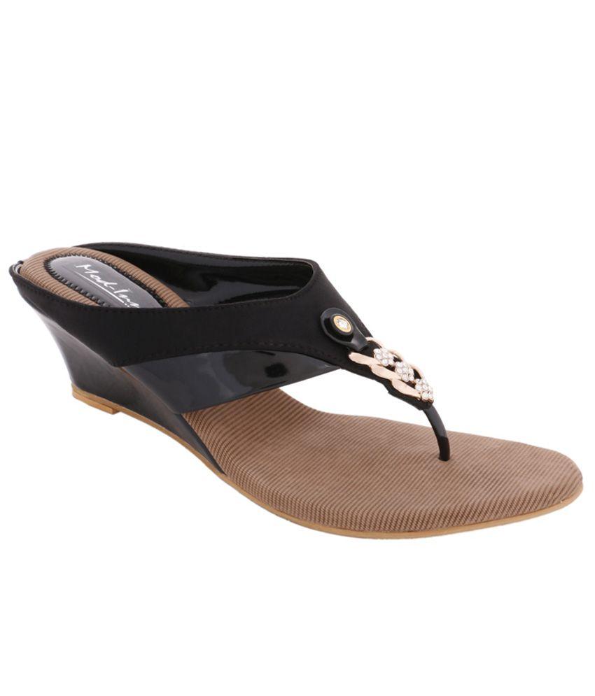 Mod-inn Black Wedges Heels