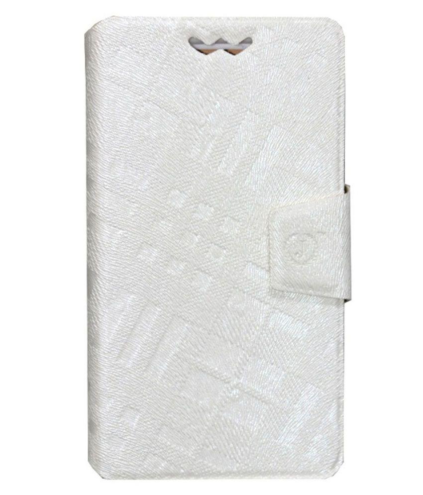 Jo Jo Flip Cover With Silicon Holder For HTC Titan - White
