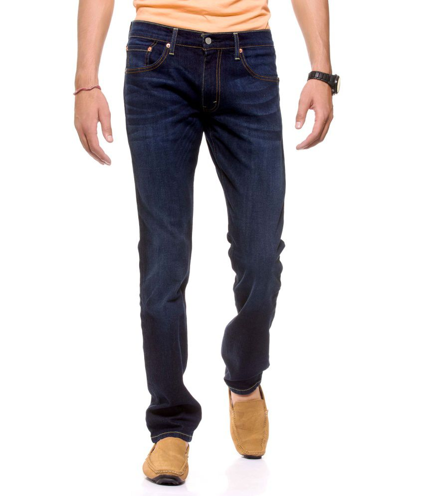 Levi's Blue Cotton Blend Skinny Fit Jeans