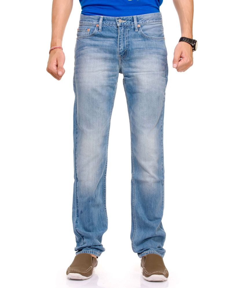 Levi's Blue Cotton Slim Fit Jeans