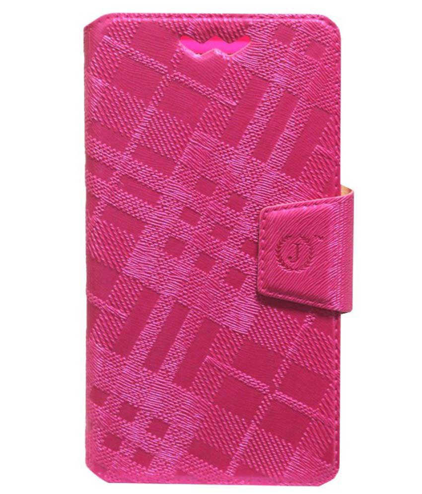 Jo Jo Flip Cover With Silicon Holder For Lenovo S720 - Pink