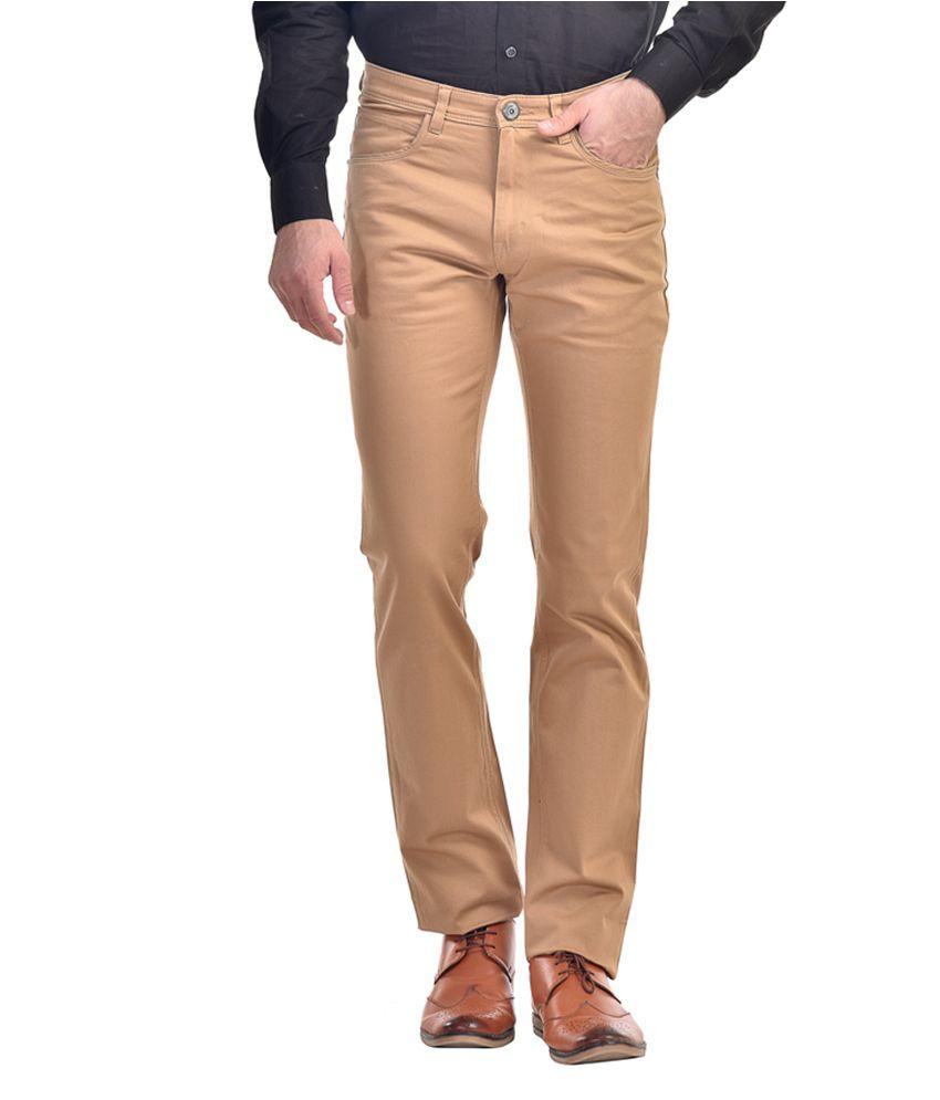 Kingswood Khaki Cotton Blend Slim Fit Trouser