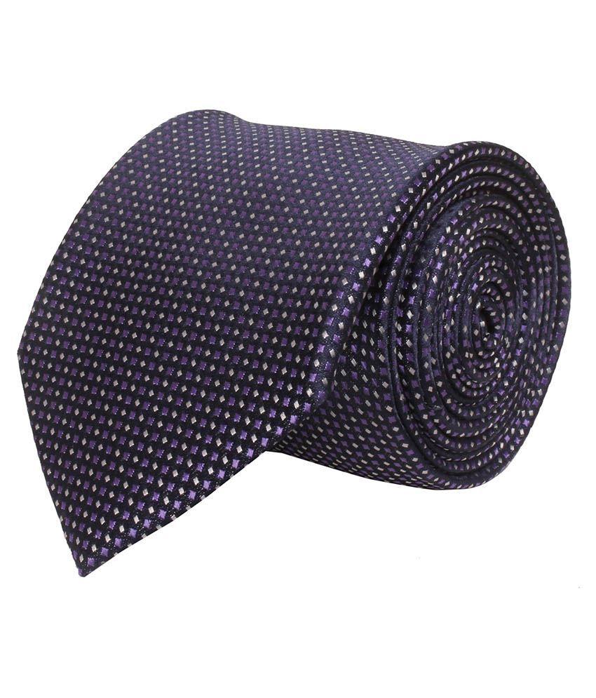 Corpwed Blue Micro Fiber Casual Broad Necktie
